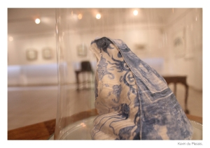 """THE DECORATIVE ANIMAL. The Las Meninas [Ladies in Waiting] series (2010-2012) of cobalt oxide-painted ceramic frog sculptures further reflects on the obscuration of animal beings in human visual culture."" -from the catalogue Wolf in Sheep's Clothing."