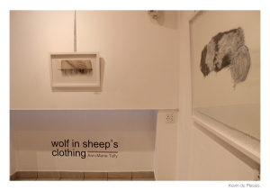 """She Wolf II"" above the vinyl."